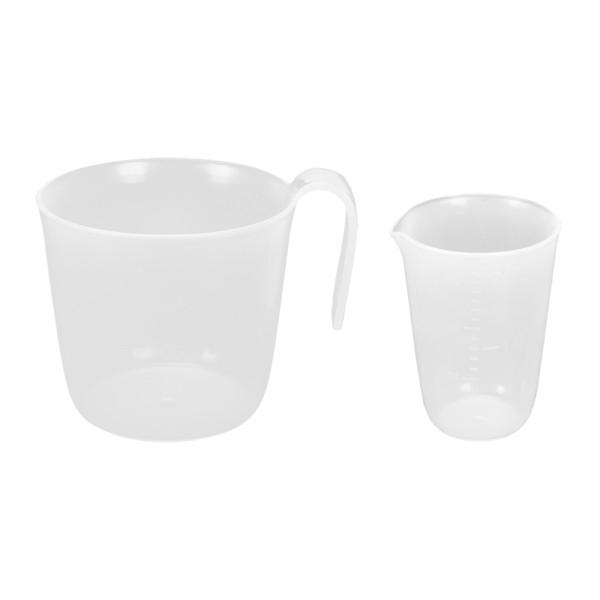 Vaso medidor de harina(17) + Vaso medidor de líquido(18)