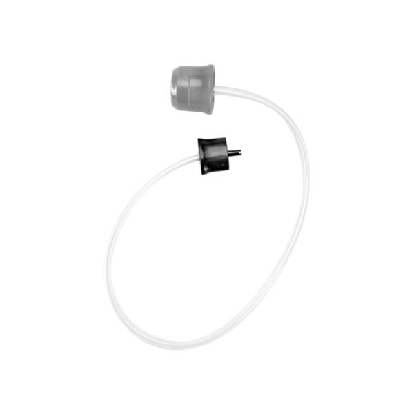 cylinder zasysający(18) + adapter do podłączenia do urządzenia(19) + rękaw foliowy na woreczki(17)